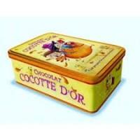 Amandine Piu Boite métal Cocotte d'or