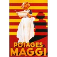 Carte rétro ancienne pub Potages Maggi