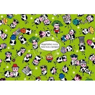 Carte Lali Le berger et les vaches