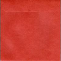 Enveloppe carrée  rouge foncé nacré