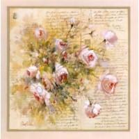 Carte Pascal Cessou Bouquet de roses blanches