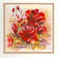 Carte Pascal Cessou Roses rouges