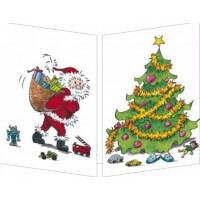 Carte Sophie Turrel La glissade du Père Noël