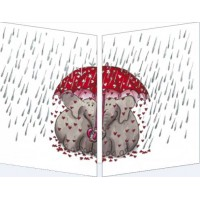 Carte Sophie Turrel Les éléphants sous la pluie