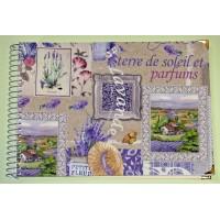 Grand Livre d'Or artisanal à spirales Lavande de Provence