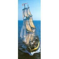 Carte Philippe Plisson Ciel et Mer HMS Rose Frégate américaine