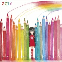 Calendrier 2016 30x30 Mila Rainbow Pencils