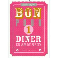 Carte Bon Pour un dîner en amoureux