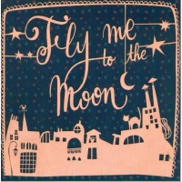 "Carte Florence Weizer ""Fly me to the Moon"""