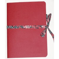 Carnet artisanal Simili Cuir Rouge et Lien Liberty Wiltshire rouge