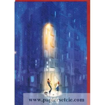 """Carte Pascal Campion """"Jazz sous la pluie"""""""