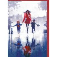 """Carte Pascal Campion """"Retour sous la pluie"""""""