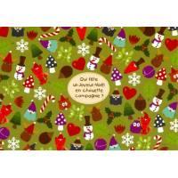 Carte Lali Qui fête un joyeux Noël en chouette compagnie?