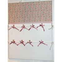 Pêle-Mêle Liberty Betsy Ann rose 50x40 toile blanche à pinces
