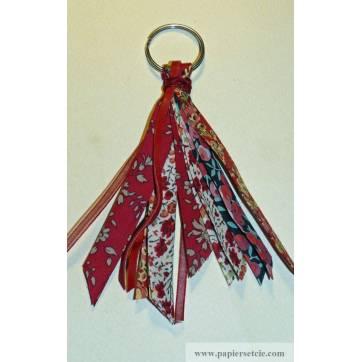 Porte clefs bijou de sac Liberty of London Patchwork rouge