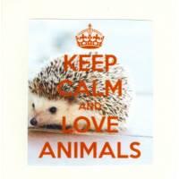 "Carte ""Keep Calm and Love Animals"""