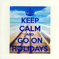 "Carte ""Keep Calm and Go on Holidays"""