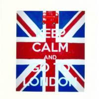 "Carte ""Keep Calm and Go to London"""