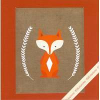 Carte artisanale naissance Petit Renard