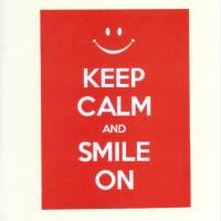 "Carte ""Keep Calm and Smile On"""