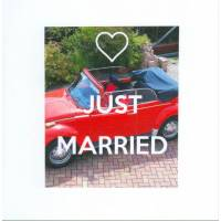 "Carte ""Just married VW rouge"""