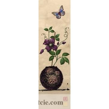 Marque-Pages Fleurs bleues et Papillons