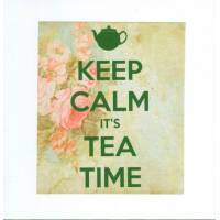 "Carte ""Keep calm It's tea time"""