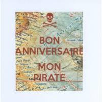 "Carte KC ""Bon Anniversaire"" Mon Pirate"