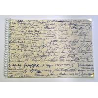 Grand Livre d'Or artisanal à spirales Signatures célèbres