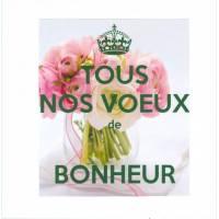 """Carte KC """"Tous nos voeux de bonheur"""" renoncules"""