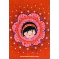 Carte Marie-Pierre Emorine Carte Marie-Pierre Emorine Poupée russe aux joues rouges