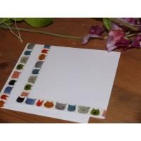 Set de cartes de correspondance Têtes de Chats