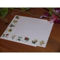 Set de cartes de correspondance Fleurs vintage