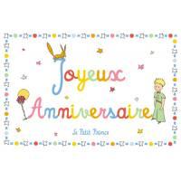 Carte Citation Le Petit Prince Joyeux Anniversaire en couleurs