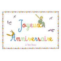 Carte Citation Le Petit Prince Joyeux Anniversaire dans le ciel