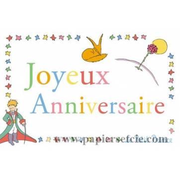 Carte Le Petit Prince Joyeux Anniversaire Le Renard