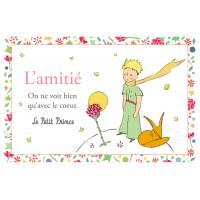 Carte Le Petit Prince L'Amitié: on ne voit bien qu'avec le coeur