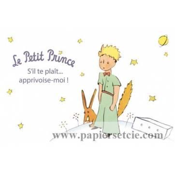 """Carte Le Petit Prince  Le Renard """"S'il te plaît, apprivose-moi!"""