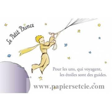 """Carte Le Petit Prince """"Les étoiles sont des guides"""""""