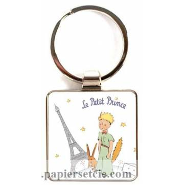 Porte clefs Le Petit Prince blanc Tour Eiffel