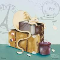 Carte Marilyn Robertson Charlie Cat en voyage