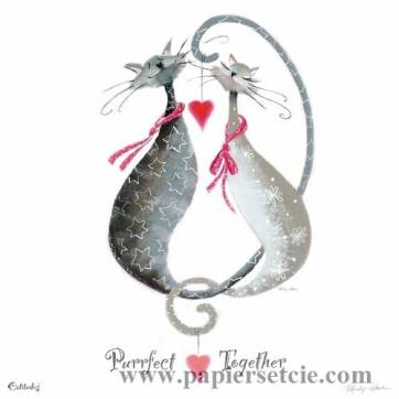 """Carte Marilyn Robertson """"Purrfect together"""""""