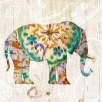 Carte vintage Danhui Nai Elephant Boho Paisley