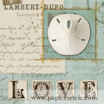 Carte vintage Journal de Plage Love