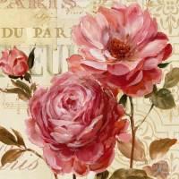 Carte vintage Lisa Audit Harmonie de Roses