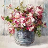 Carte vintage Danhui Nai Roses en pot