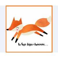 """Carte artisanale simple Petit Renard """"Un Super Joyeux Anniversaire"""""""