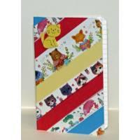 Petit carnet artisanal décoré de Masking Tape chat