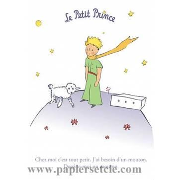 "Grande Carte Le Petit Prince ""Dessine moi un mouton"""