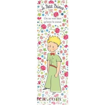 marque pages petit prince on ne voit bien qu 39 avec le coeur fleurs roses. Black Bedroom Furniture Sets. Home Design Ideas